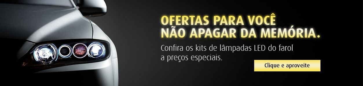 Kit lâmpada led do farol